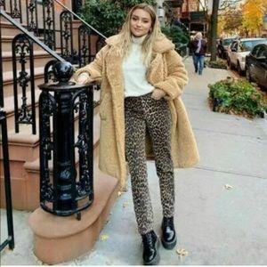 NWT Zara Trafaluc Leopard Skinny Jeans Blogger Fav